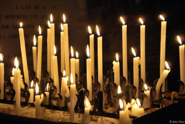 Candles in Rome, Italy
