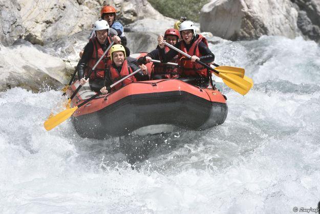Rafting with Quey'Raft, near Briançon, France