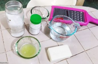 Zero Waste home-made dish-washing soap, Merida, Mexico