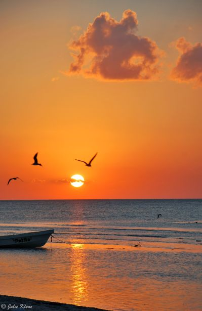 Sunset on Holbox island, Mexico