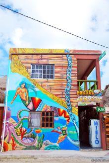 Mural on Holbox island, Mexico