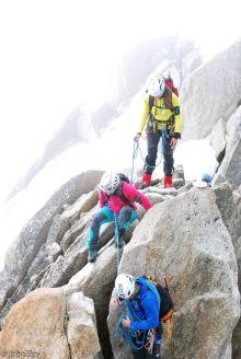 Ice climbing training, Aiguille du Midi, Chamonix, France