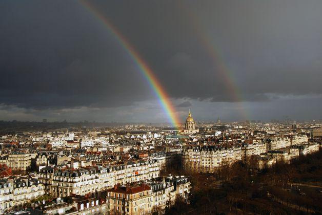 Double rainbow, Paris, France