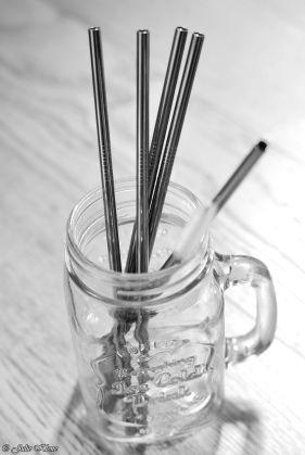 Zero Waste stainless steel straws & glass jar, Fête du Mojito, Paris, France