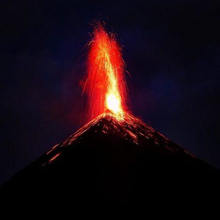Fuego volcano, Antigua, Guatemala (@vagabondeuse.ca)