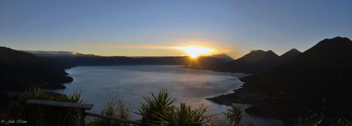 Sunrise at Indian Nose, Santa Clara, Lake Atitlan, Guatemala